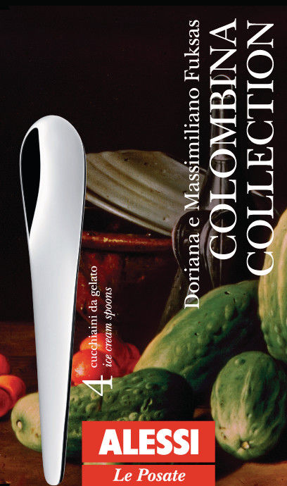 Alessi COLOMBINA,SET4 ICE CREAM SPOON