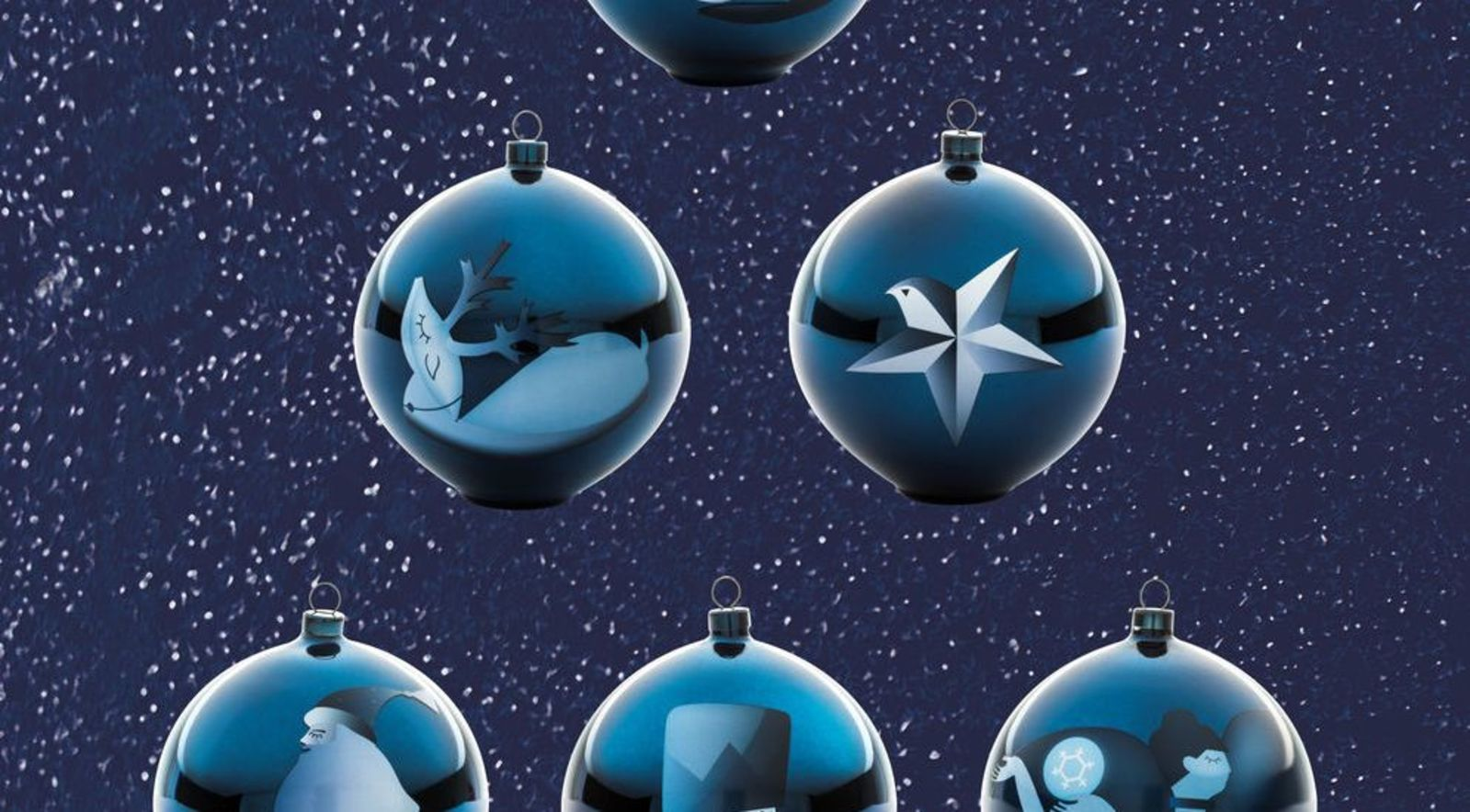 Alessi Blue Christmas Kerstballen Set